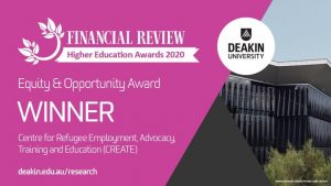 DeakinCREATE - Winner of the Equity and Opportunity Award - AFR Higher Education Awards 2020